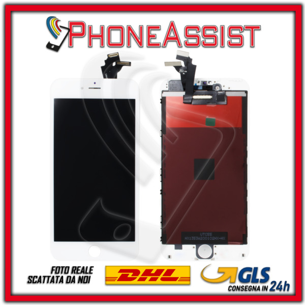 DISPLAY LCD VETRO TOUCH Apple iPhone 6 Plus SCHERMO ORIGINALE TIANMA Bianco