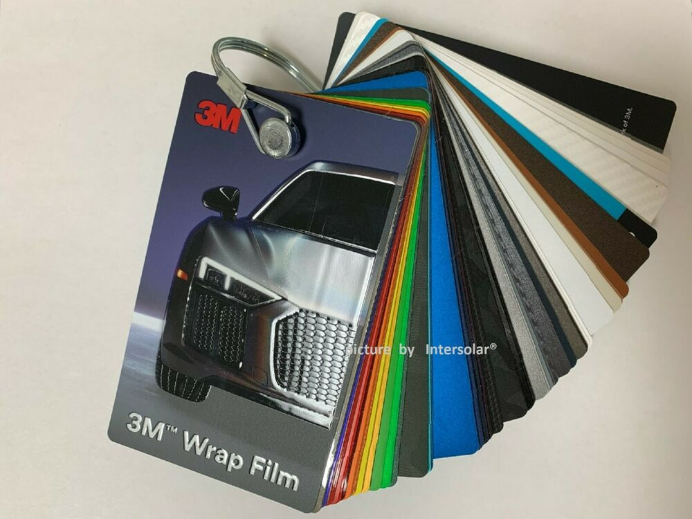 3m 1080 Vinyl Wrap Color Sample Swatch Booklet Deck Many