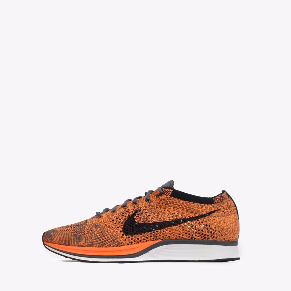 bb6326f00fde Details about Nike Flyknit Racer Mens Womens Unisex Running Shoes Total  Orange White