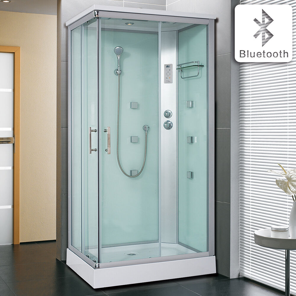 1200*700mm White Shower Enclosure Hydro Corner Cubicle With Massage ...