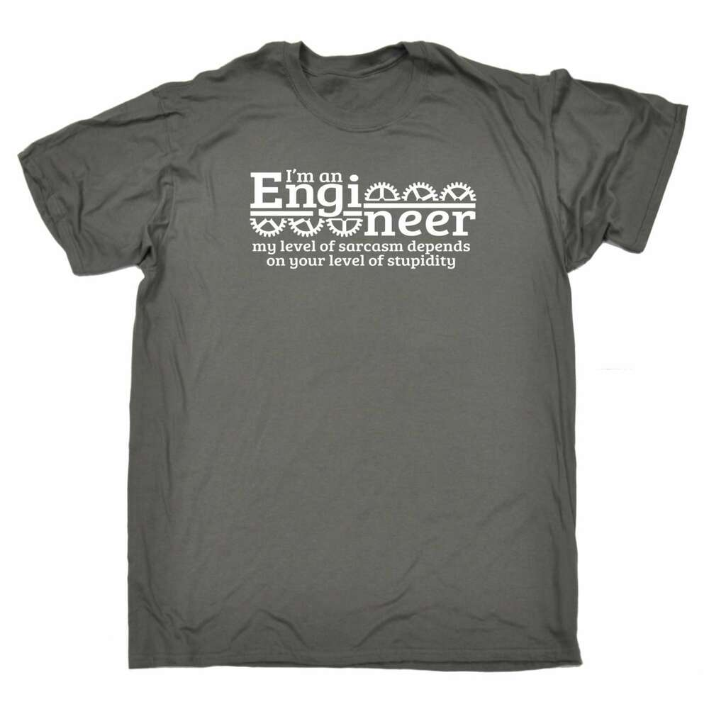 79913ece Details about Im An Engineer My Sarcasm Depends On Your Stupidity Funny  Joke Civil Job T-SHIRT