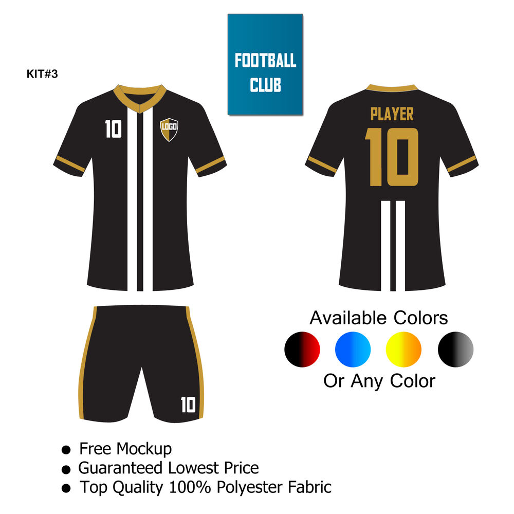 Customized Soccer Kit Full Sublimated 16 Kits Shirts Shorts Any