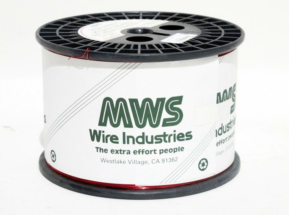 MWS Wire Industries Enameled Magnet Wire 27 AWG SPN 155 Red Nema ...