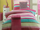 Girls Ruby Jiggle Giggle Multi Stripe Single Bed Doona Quilt Cover Set Sale
