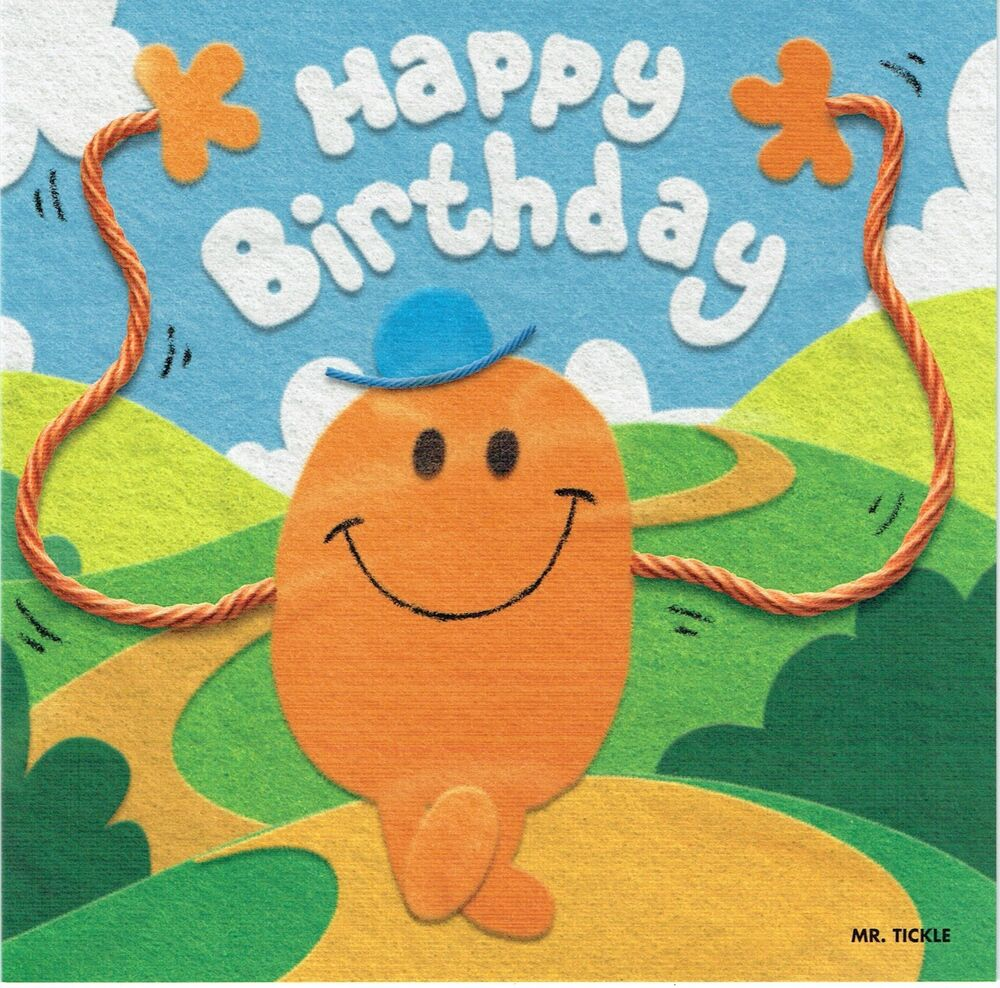 Mr Tickle Birthday Card From The Mr Men Little Miss Collection