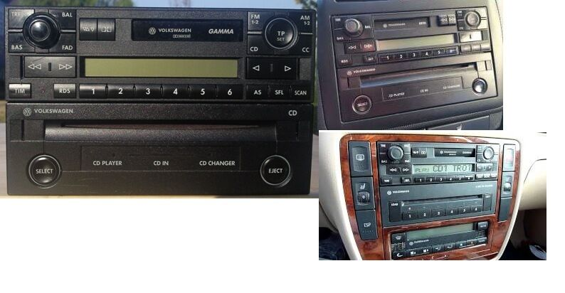 autoradio vw gamma 5 v cd player t5 t4 multivan polo. Black Bedroom Furniture Sets. Home Design Ideas
