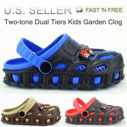 Kyпить Garden Clogs Shoes For Boys Kids Toddler Slip-On Casual Two-tone Slipper Sandals на еВаy.соm