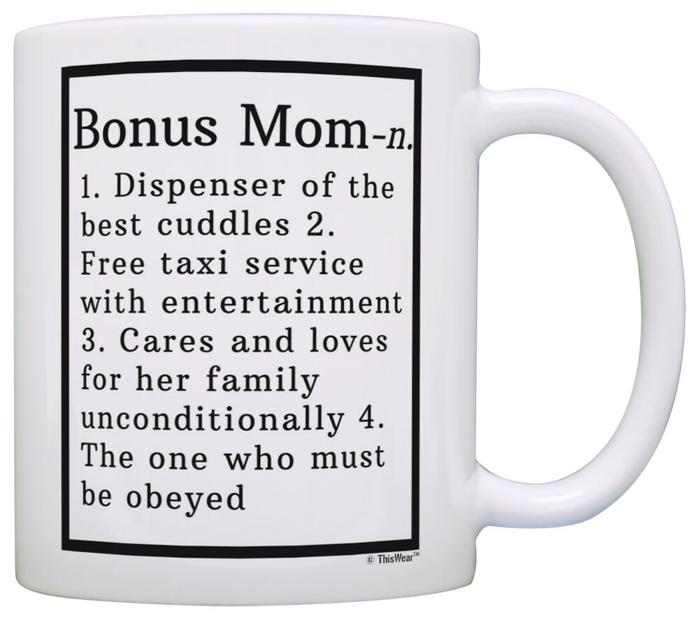Stepmom Gifts Bonus Mom Definition Step Mom Gifts from Coffee Mug ...