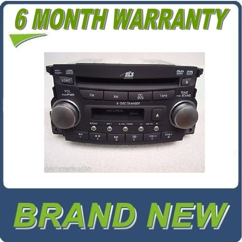 NEW 04 05 06 Acura TL Radio 6 Disc Changer CD DVD Player