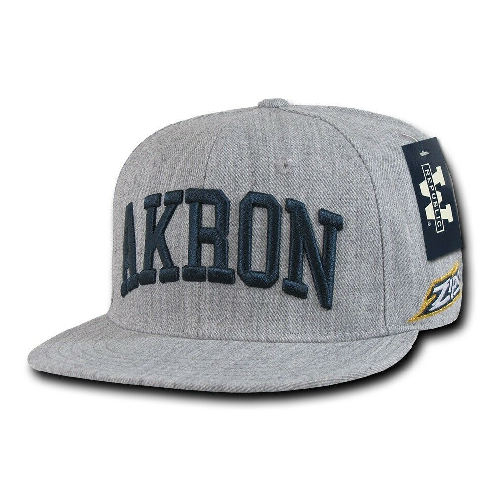 b6ba395655b5b Details about NCAA University of Akron Zips Game Day Fitted Caps Hats