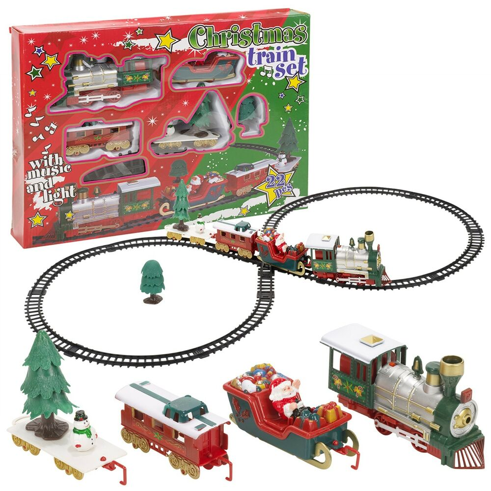 christmas tree musical santa train track set toys kids party gift decoration 771948524469 ebay. Black Bedroom Furniture Sets. Home Design Ideas