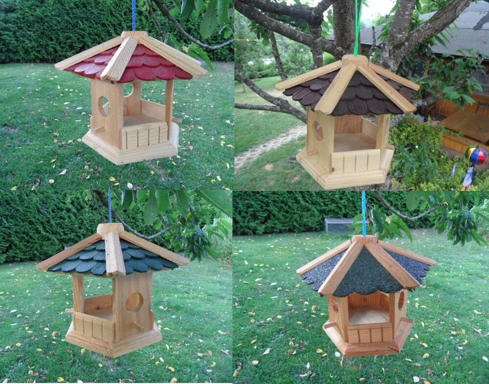 vogelvilla aus holz vogelh uschen futterhaus xl futterh uschen balkon v gel top ebay. Black Bedroom Furniture Sets. Home Design Ideas