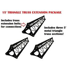 3x 5ft Lighting Triangle Bolted Truss 15' span Stand Universal DJ Metal 5' NEW