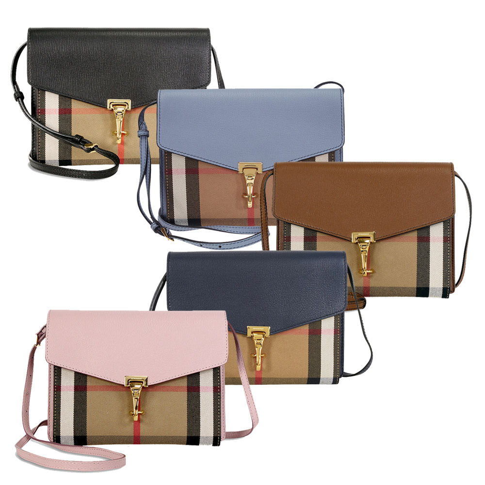 7cb45406fa4 Details about Burberry Small Leather House Check Crossbody Bag- Choose color