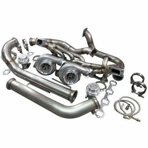 Mustang V6 Turbo Kits: CXRacing Twin Turbo Kit For 79-93 Ford FoxBody Mustang 5