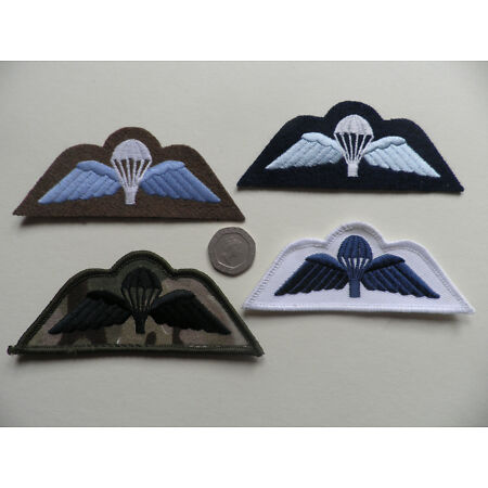 img-UK forces Parachute Wings. MTP, Army, Royal Navy, RAF, All new.
