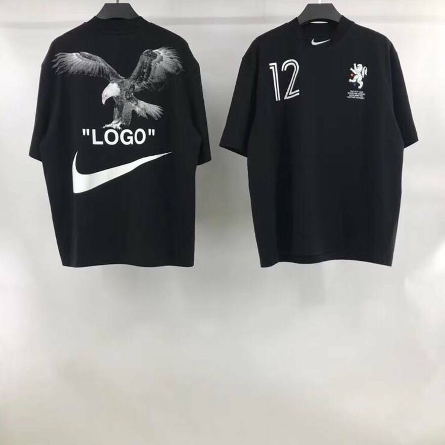 90f97557da2f Details about Nike X Off-White Men s T-Shirt Black Soccer Cropped Nikelab  Mercurial NRG TEE