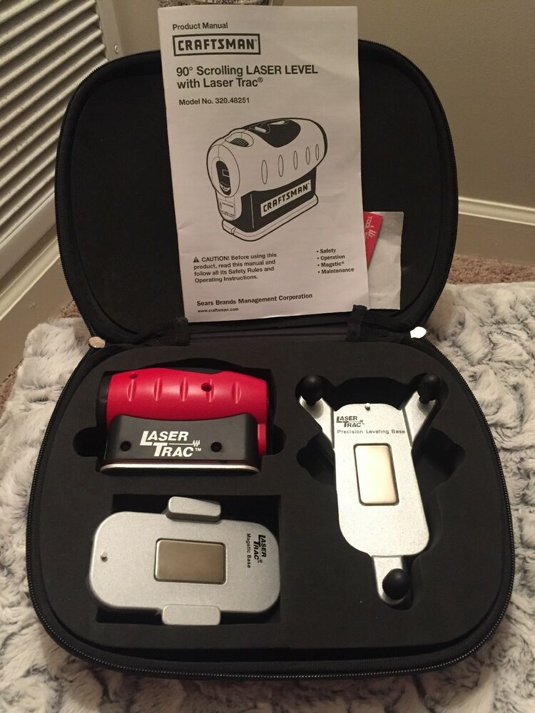 craftsman 90 degree scrolling laser level with laser trac model no rh ebay com Craftsman 360 Degree Level System De Walt Laser Level Kit