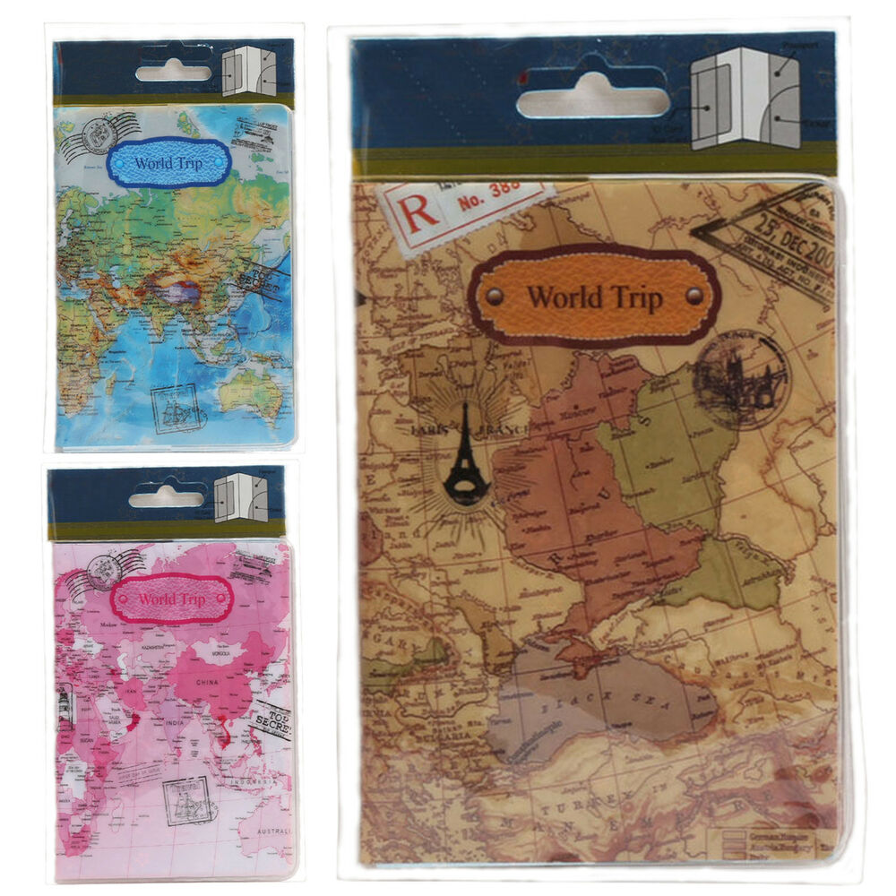 World Map Passport Holder.World Map Passport Holder Traveling Passport Cover Case Card Id