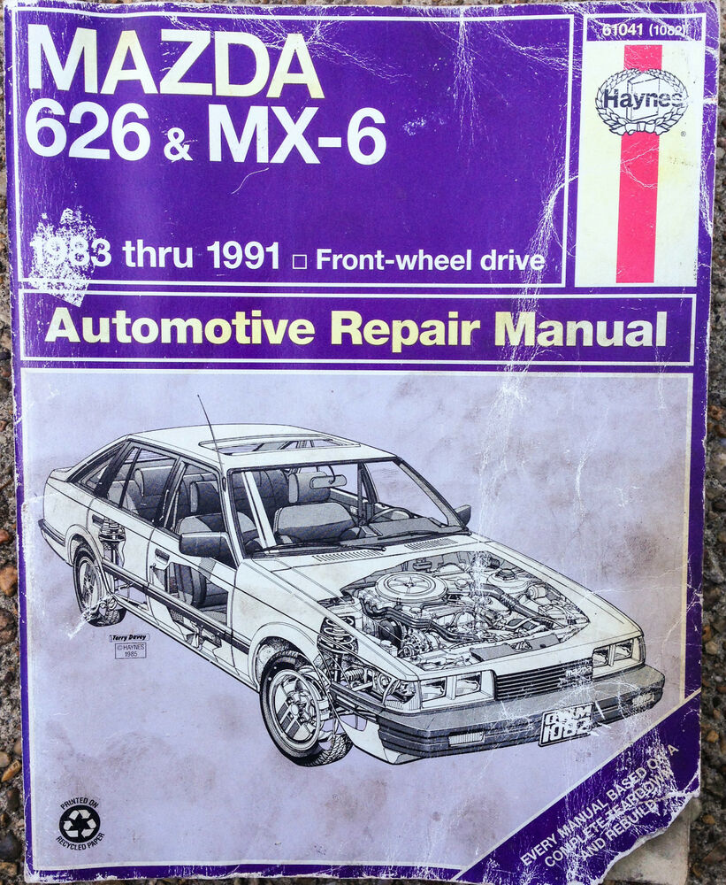 1983 1984 1985 1986 1987 1988 1989 1990 1991 MAZDA 626 MX-6 REPAIR MANUAL |  eBay