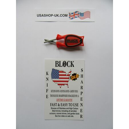img-BLoCK Knife Sharpener.Works on Serrated+Straight Knifes ( made in USA) @ £12.00