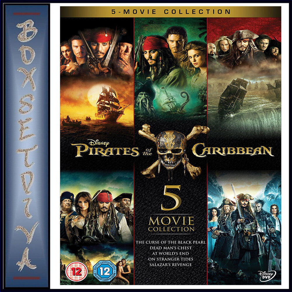 Pirates Of The Caribbean 5 Movie Collection Brand New Dvd Boxset 8717418513887 Ebay