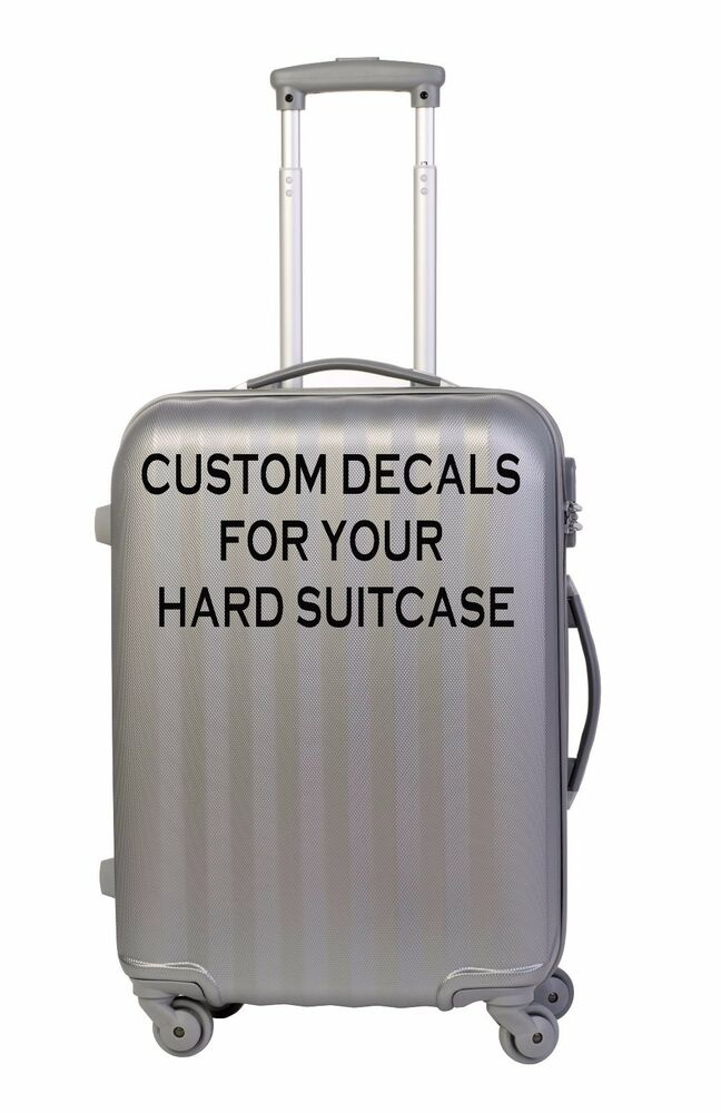 4x lrg personalised stickers for hard suitcase or trunk lots of fonts colours ebay