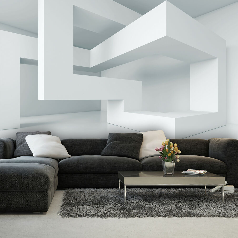 vlies fototapete tapeten tapete geometrie abstraktion 3d. Black Bedroom Furniture Sets. Home Design Ideas