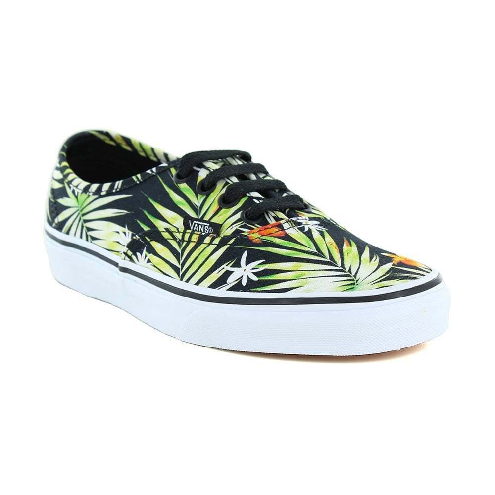 2a9bab131ce8 Details about Vans Authentic VN0A38EMMLD Unisex Skate Shoes - Decay Palms  Black
