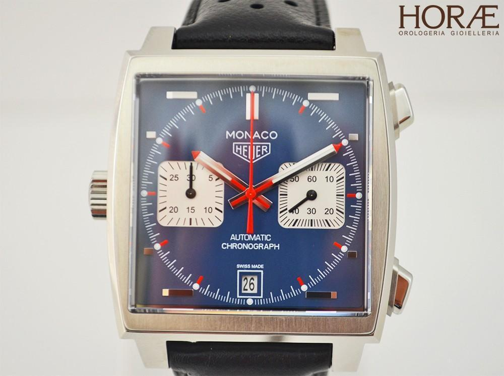 0c5abf3b7cad Details about Tag HEUER MONACO Steve McQueen Calibre 11 Steel Leather CHRONO  AUTOMATIC blue