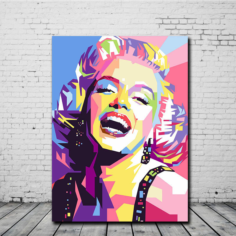 Marilyn Monroe Canvas Print Oil Painting Modern Wall Art Home Decor People  Paint