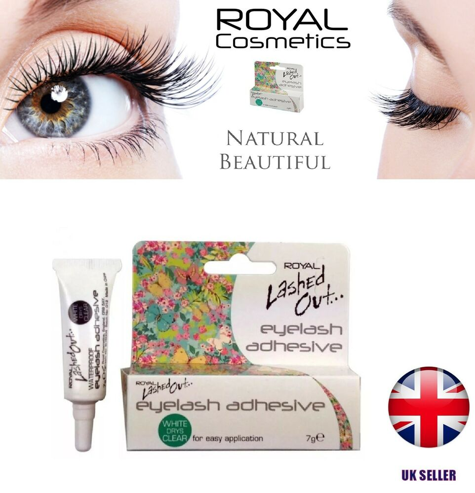 Royal Lashed Out False Eyelash Eye Lash Adhesive Glue White Dries