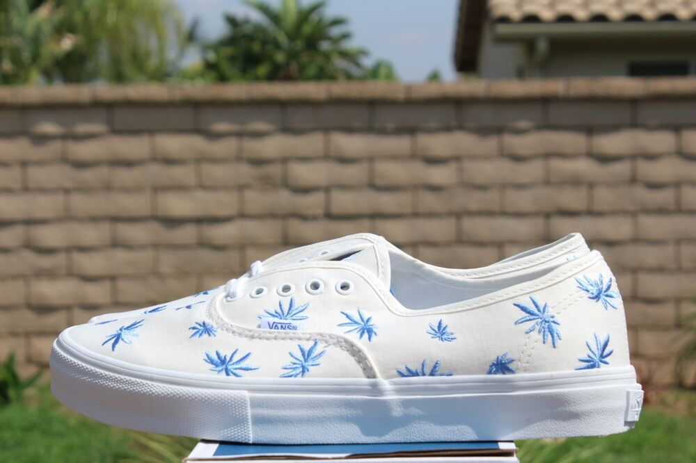 1b4ab3c7306be5 Details about VANS AUTHENTIC LX PALM EMBROIDERY SZ 8 BLANC WHITE BLUE VN  0SFGDPW