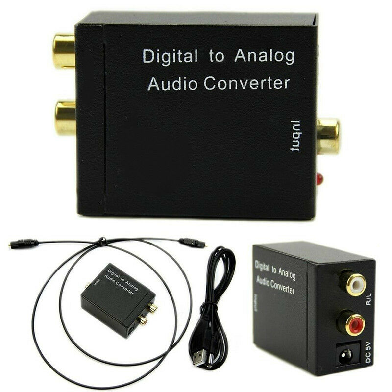 digital optical coax to analog rca l r audio converter adapter with fiber cable 606479336505 ebay. Black Bedroom Furniture Sets. Home Design Ideas