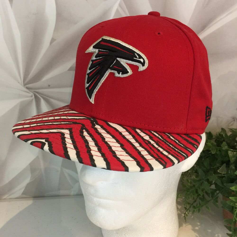 newest d0740 9c60a Details about New Era Atlanta Falcons NFL Red Men s Hat Black White Red  Stripe Flat Bill OS
