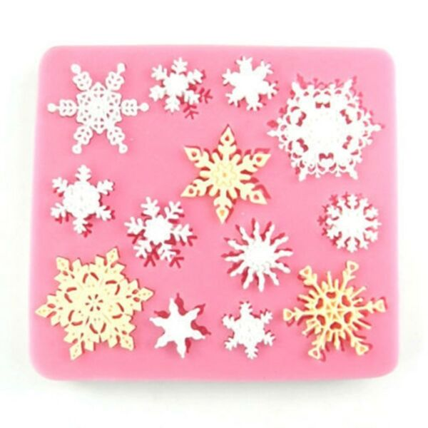Snowflake Silicone Fondant Cake Mold Soap Chocolate Candy Mould DIY Decorating