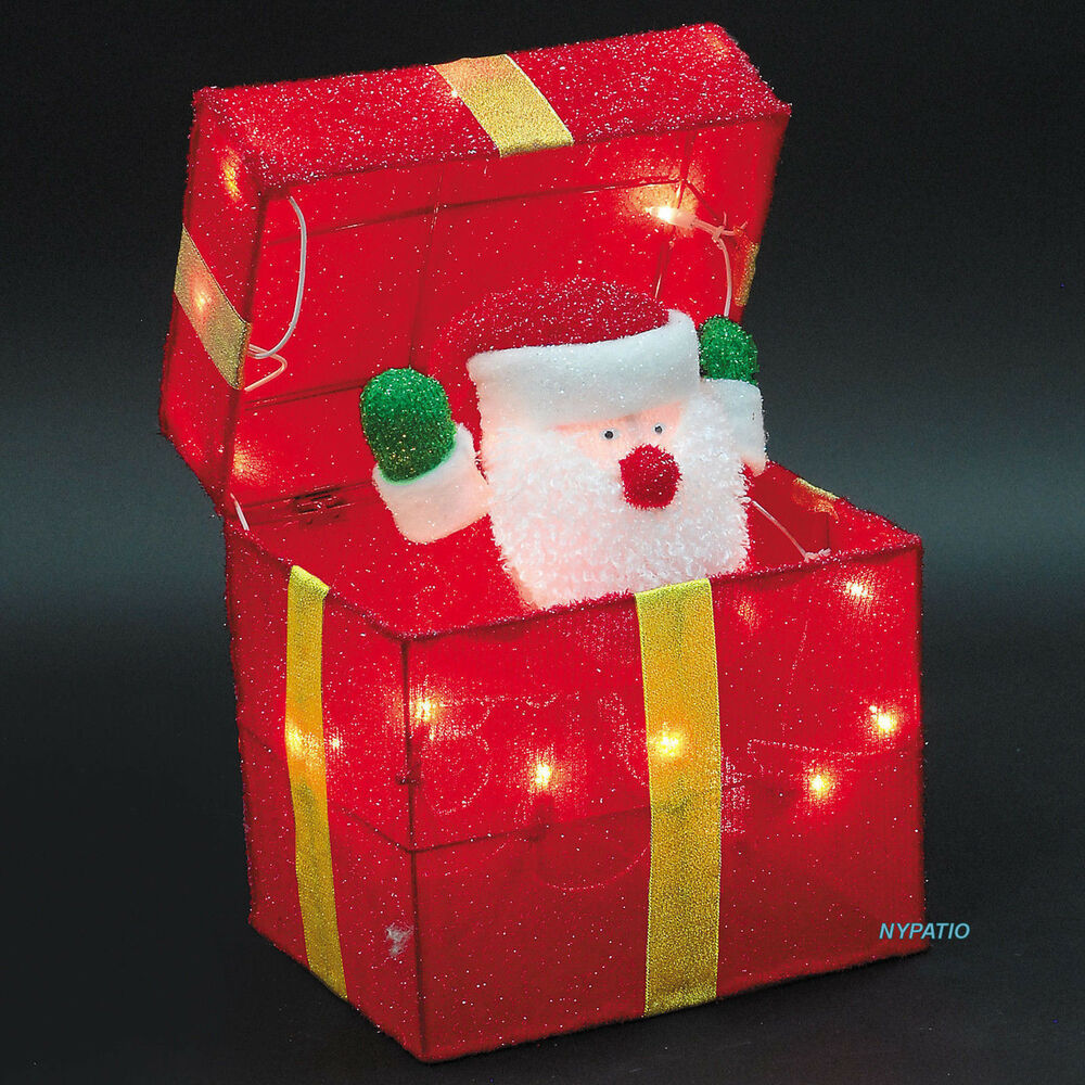 Decoration Ideas How To Choose Outdoor Animated Christmas: ANIMATED SANTA GIFT BOX LIGHTED TINSEL INDOOR/OUTDOOR