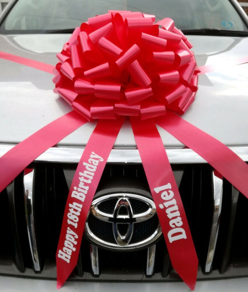 Giant Car Bow With Personalised Tails Large Gift Bow ALL