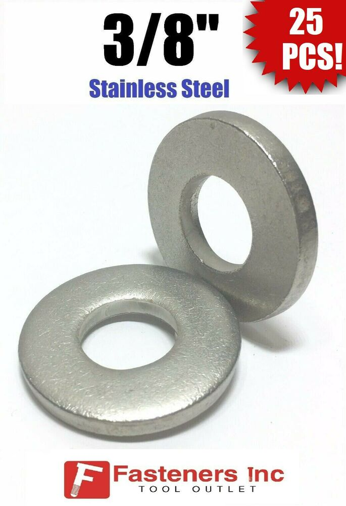 Qty 25 3 8 Quot Stainless Steel Thick Heavy Duty Sae Flat