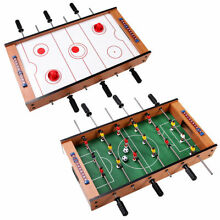 2 In 1 Table Game Air Hockey Foosball Table Christmas Gift For Kids In/Outdoor