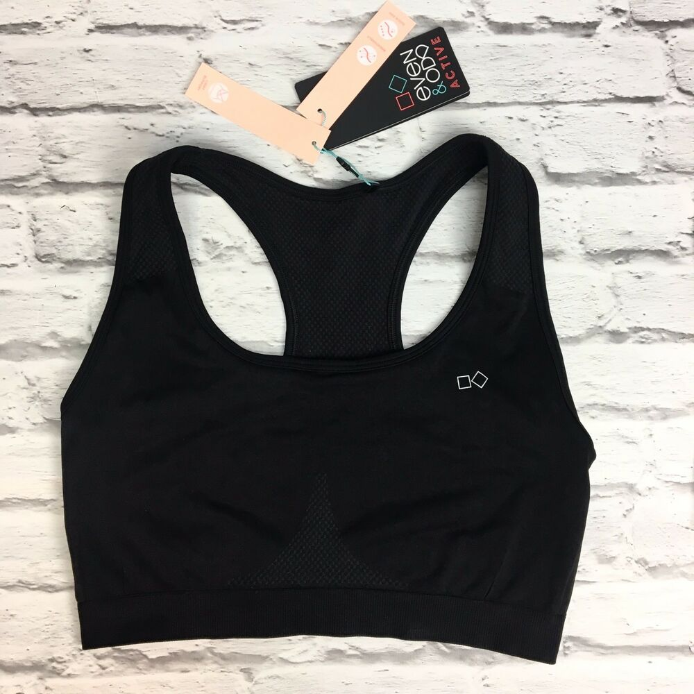 55bfd50544 Details about Even   Odd sports active bra in Black (Z3-34)