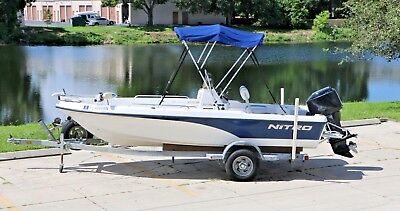 2004 Nitro 1800 Bay Boat With 90hp Mercury Center Console with Trailer