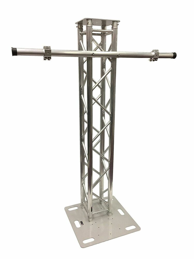 2 meter aluminum plasma tv mount stand stage club dj lighting truss tower ebay. Black Bedroom Furniture Sets. Home Design Ideas