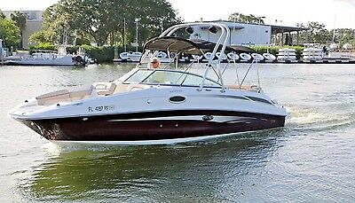 2011 Sea Ray 260 Sundeck 80 hours Wakeboard Ski Arch Deck Boat Bow Rider 5.7MPI