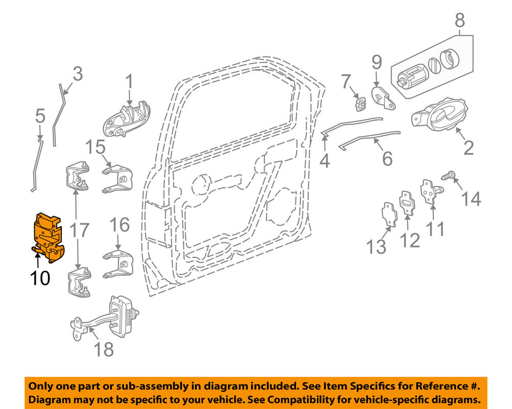 Gm Oem Front Door Lock Latch Kit 15110507 Ebay Chevrolet 4 2 L6 Engine Diagram
