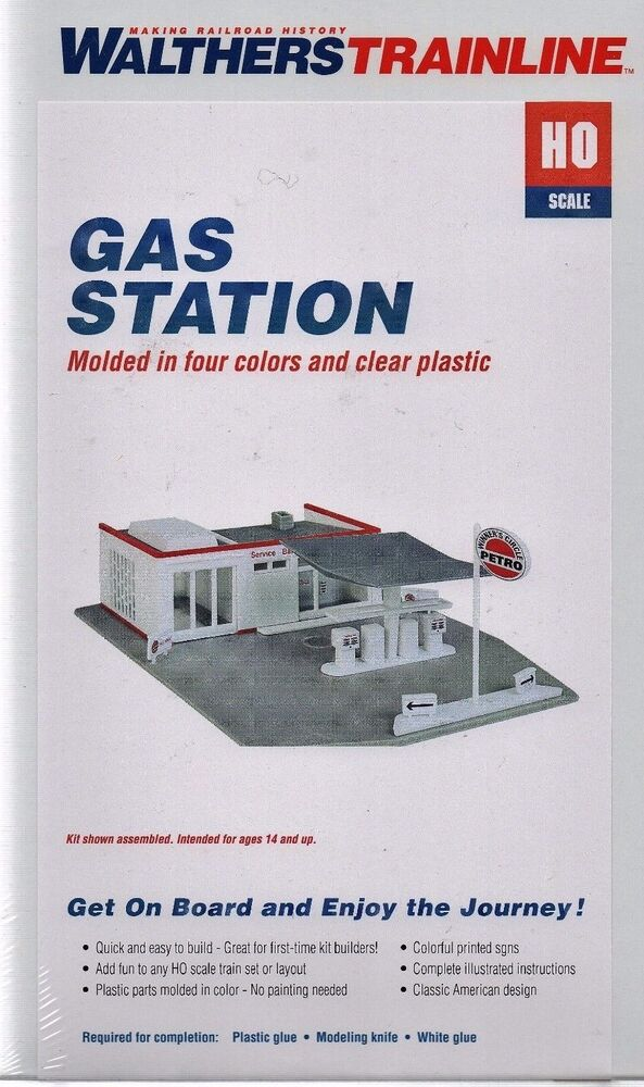 SH-001 - Shell Gas Station & Convenience Store Kit in HO Scale ...