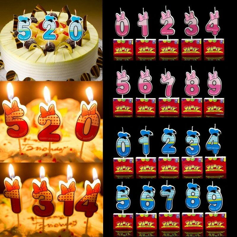 Details About Numbers Candle Cake Candles Anniversary Ages Party Kids Birthday Decors Ornament