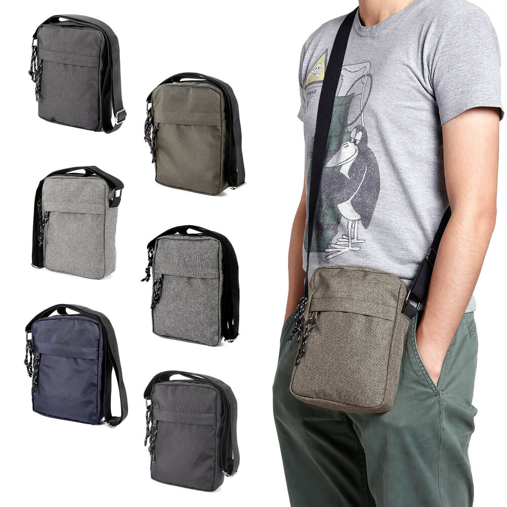 Mens Travel Messenger Bag Shoulder Crossbody Handbag Small Briefcase Ebay