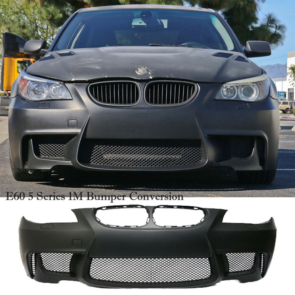 1m body kit full front bumper cover 2004 2010 bmw e60 5. Black Bedroom Furniture Sets. Home Design Ideas