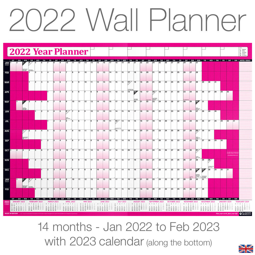 Three Year Calendar Planner : Yearly planner annual wall chart year a